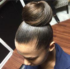 Nice elegant bun #lindzstylez