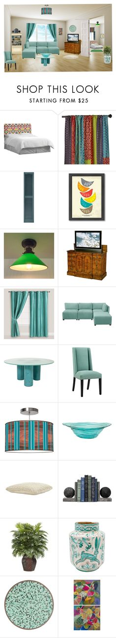 """""""Teal"""" by cynthiahawthorne ❤ liked on Polyvore featuring interior, interiors, interior design, home, home decor, interior decorating, Skyline, Pier 1 Imports, Americanflat and Cost Plus World Market"""