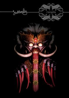 Rangda is the demon queen of the leyaks in Bali, according to traditional Balinese mythology. | #Bali , #Indonesia , #SouthEast #ASia