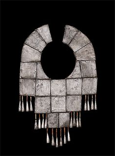 Peru ~ North | Pectoral; silver, shell, semi-precious stones | Chimú culture.  | 100 - 1470 AD