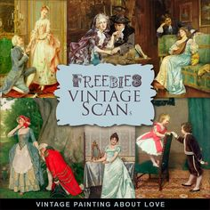 Far Far Hill: New Freebies Kit of Vintage Painting about Love