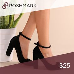 Black velvet round-toe heels. Worn only once! Super comfortable pair of black heels. True to size. Shoes Heels