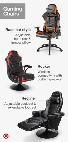 Gaming room must-have? A comfy chair. Choose from a range of gaming chairs for video game consoles & computers alike. Gaming room must-have? A comfy chair. Choose from a range of gaming chairs for video game consoles & computers alike. Gaming Room Setup, Gaming Chair, Gaming Computer, My New Room, My Room, Game Room Decor, Game Room Chairs, Bag Chairs, Video Game Rooms