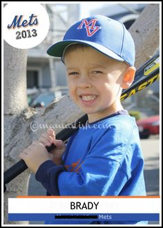 {Tutorial} How to create a baseball card for your child on PicMonkey