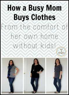 How a Busy Mom Buys Clothes:  Without the kids in tow!  How do you shop for yourself?