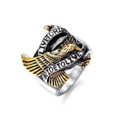 01 - Live to Ride - Ride to Live - Ring Eagle Ring, Wedding Jewelry, Rings For Men, Silver Rings, Pouch, Engagement, Stuff To Buy, Accessories, Motorcycle Girls