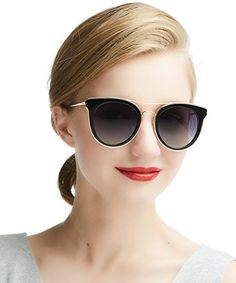 f088aede1 Polarised Cateye Sunglasses For Womens - DADA-PRO Vintage UV400 Metal Frame  Brand Designer Goggles (Black)Polarized Cateye Sunglasses For Women -  DADA-PRO ...