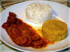 Rougail Saucisse, ou crevettes ou camarons ou poulet...., cuisine créole - Maurice