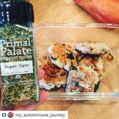 "Thanks for the kind words @my_autoimmune_journey  don't forget our spices are ON SALE now save 10% using code ""ThanksMom"" (link in profile to shop spices)  #Repost @my_autoimmune_journey with @repostapp.  I haven't had this much flavor in almost 30 days . I used @primalpalate spice blend Super Gyro (AIP friendly!!) to season my chicken sausage patties.  Thanks for making these spices for the AIP community  #primalpalatespices #mealprepsunday #aip #paleo #autoimmunepaleo #autoimmuneprotocol…"