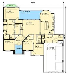 Hill Country Ranch Home Plan - 36860JG | 1st Floor Master Suite, Butler Walk-in Pantry, Corner Lot, Den-Office-Library-Study, Hill Country, PDF, Ranch | Architectural Designs