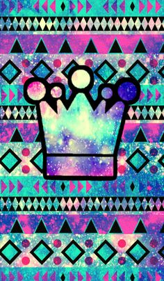 Tribal crown galaxy iPhone/Android wallpaper I created for the app CocoPPa. #cocoppa #iPhone #android #phonewallpaper #wallpaper