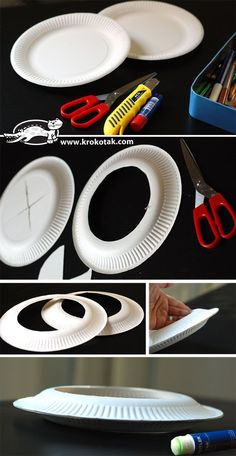 Cool DIY frisbee from paper plates