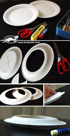 Papptellerfrisbee Nachbasteln, anmalen, Spaß haben :D