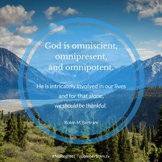 God is intrinsically involved in our lives. For this alone, we should be  #Thankful