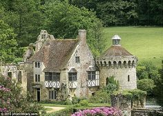 Scotney Castle in Kent has an old moated castle as a focal point in the landscape.