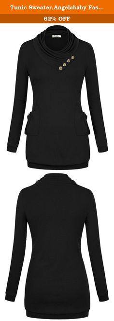 Tunic Sweater,Angelababy Fashion Womens Pullover Shirt Jersey Long Sleeve Cowl Neck Cotton Sweatshirt Top T-shirt X-Large Black. • Angelababy Fashion's main products are tshirts, shirts, hoodie, coats, jackets, blazers, cardigans, sweaters, suits and accessories for women. • Most of our items are produced to casual comfort style. • Note: As different computers display colors differently, the color of the actual item may vary slightly from the above images, thanks for your understanding. •...