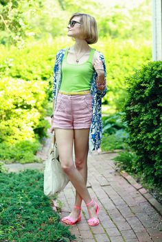 """District of Chic"" wearing UO's shorts #urbanoutfitters"