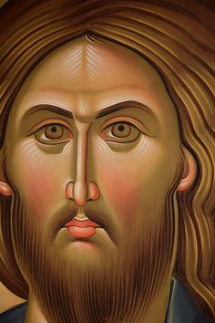 Daniel Neculae 03 Religious Images, Religious Icons, Religious Art, Byzantine Icons, Byzantine Art, Greek Icons, Paint Icon, Jesus Face, Christ The King