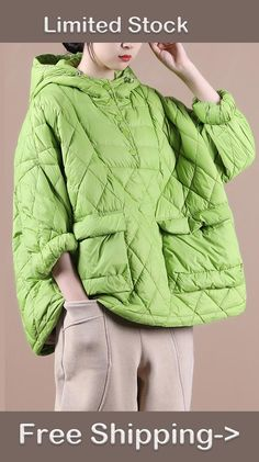 Worldwide Delivery. Cute Down Coat-Packable Spring Hoodie Jacket 70s Outfits, Mode Outfits, Classy Outfits, Robes Vintage, Puffy Jacket, Down Coat, Hoodie Jacket, Coats For Women, Mantel
