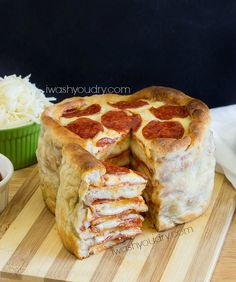 [make it once only--for sam] THEE Pizza Cake! Layers upon layers of delicious pizza made in less than an hour!