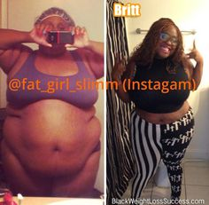 Britt lost 85 pounds | Black Weight Loss Success