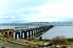 Tay Rail Bridge, nr Dundee c 1985/6, from See Scotland by Train, NMS exhibition