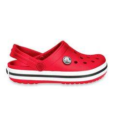 Red Crocband Clog by Crocs #zulily #zulilyfinds Just bought these for both my boys!