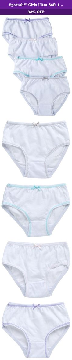 187e98ec0a4 Sportoli™ Girls Ultra Soft 100% Cotton White and Assorted Colors Panties -  White (