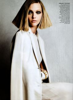 "Sasha Pivovarova in ""Naturally Refined"" by Patrick Demarchelier Vogue US November 2010"