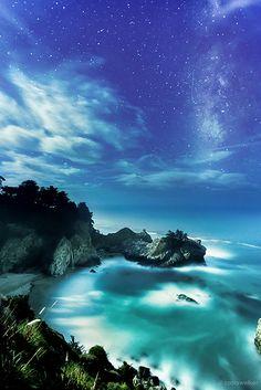 Under The Moonlight - McWay Falls, Big Sur, California