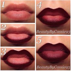 """How to create the perfect """"FALL OMBRE"""" Lip"""