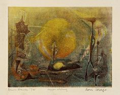 Massachusetts 1995 color cellocut and soft-ground etching on paper; Image: 7 x 9 in.    Born in Wolotschick Ukraine in 1902, Boris Margo grew up in a middle class family with four other siblings. He became interested in painting at an early age, but re Experience the coolest #Art galleries in     NYC on https://www.artexperiencenyc.com