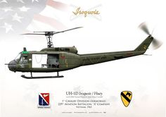 """UNITED STATES ARMY 1st Cavalry Division (Airmobile), 229th Aviation Battalion, """"A"""" CompanyVietnam, 1965"""