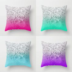 Ombre Glitter Pillows