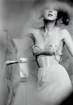 View Test shot for lingerie, Harpers Bazaar Nude, 1955 2 works by Saul Leiter on artnet. Browse upcoming and past auction lots by Saul Leiter. Saul Leiter, Natalia Vodianova, Harpers Bazaar, Look Gatsby, Marcel Rochas, Image Fashion, Fashion Mag, 50 Style, Vintage Lingerie