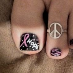 Breast cancer Nail Design ~faith~