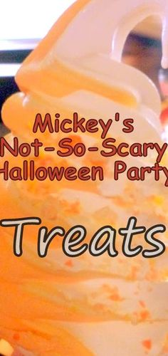 Mickeys Not-So-Scary Halloween Party Treats! #Halloween #Disney Walt Disney World, Disney World Food, Disney World Magic Kingdom, Disney World Vacation, Disney Travel, Disney Vacations, Magic Kingdom Food, Fun Vacations, Vacation Food