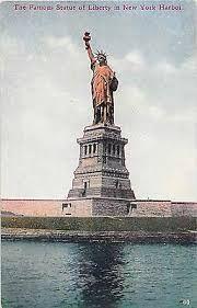 Niagara Falls New York, Brooklyn Bridge New York, Liberty New York, Liberty Island, New York Harbor, Buffalo New York, Mirror Lake, Old Postcards, Statue Of Liberty