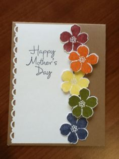 Check out the webpage to read more about diy mothers day cards for kids - Mother's Day - Muttertag Simple Birthday Cards, Handmade Birthday Cards, Greeting Cards Handmade, Diy Birthday, Birthday Gifts, Envelopes Decorados, Mother's Day Diy, Stamping Up Cards, Mothers Day Cards