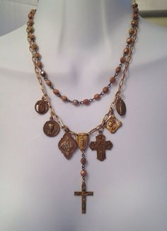 Rich antique gold and brass religious by LesChosesNecessaires, $50.00
