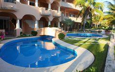 Quinta Maya- 2 Swimming Pool, Chaises Lounges & Sun - Riviera Maya Haciendas, Puerto Aventuras, Mexico