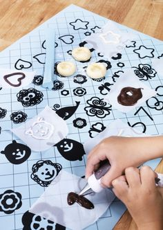 The SOCKERKAKA baking mat and knife set helps budding pastry chefs create fun decorations for cakes and cookies.