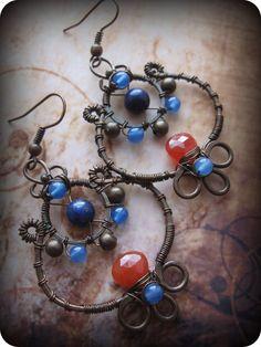 Copper Leaf Earrings by Lirimaer86 on DeviantArt