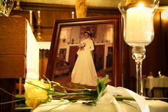 Memory Table at the alter for my mother, my brother & sister-in law lighted the candle on their way down the aisle