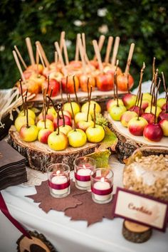 Fall Wedding Ideas - DIY Caramel Apple Bar | Wedding Planning, Ideas & Etiquette | Bridal Guide Magazine