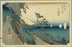 """16th station : Yui"", - The Fifty-three Stations of the Tōkaidō -, by Hiroshige (1797–1858)"