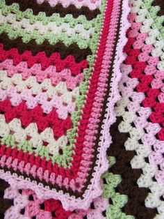 Girly Granny Stripe Blanket - LOVE THIS!  I don't know how to crochet, but maybe it's time to learn!
