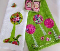 Ana Love Craft: TOALHAS DE MÃOS DE PRIMAVERA - SPRING HAND TOWELS