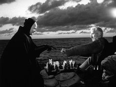 The Seventh Seal. Director Ingmar Bergman. A medieval knight returns from the crusades to plague-ravaged Sweden and encounters Death, who informs him that his time has come. The knight challenges Death to a game of chess, hoping to delay the inevitable and find answers to his metaphysical questions. Schedule and tickets at www.riverrunfilm.com