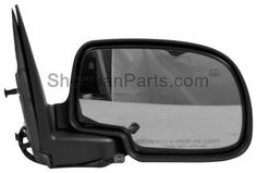 1999-2002 Chevrolet Silverado Pickup (Classic) Mirror Power RH W/Gloss Black Cover (P) Folding Silverado/Sierra 99-02